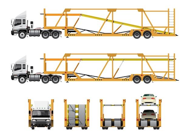 Car transportation trailer