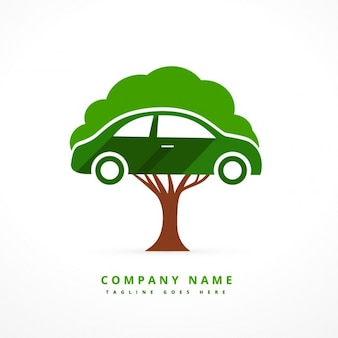 Car and tree business logo