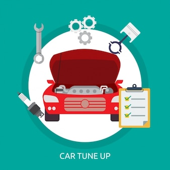 Car tune up background design