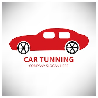 Car tuning logo template