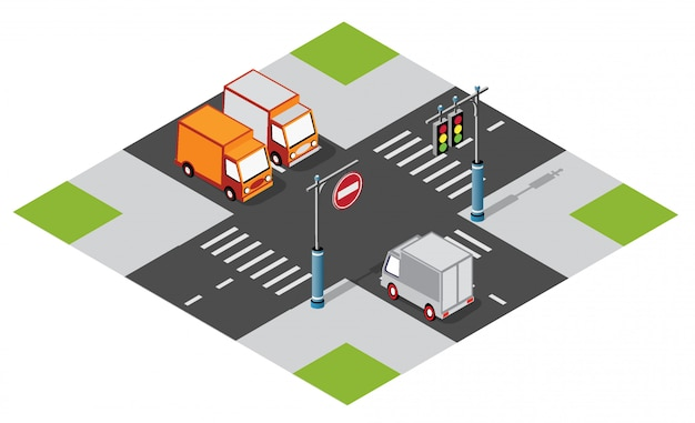 Car van at the crossroads