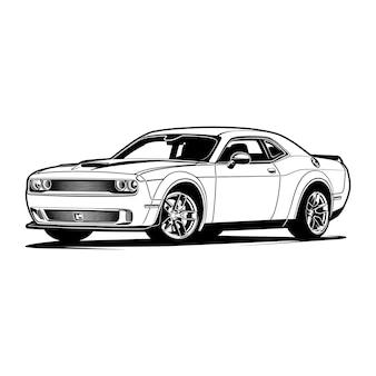 Car vector illustration for conceptual design