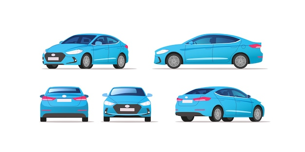 Car vector template on white background. business sedan isolated.