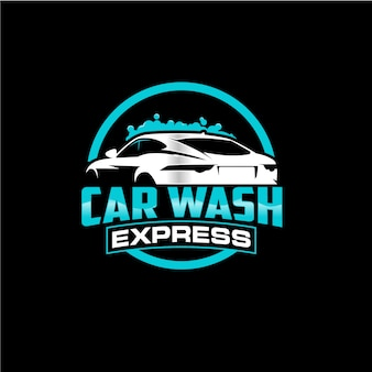 Car wash circle logo design