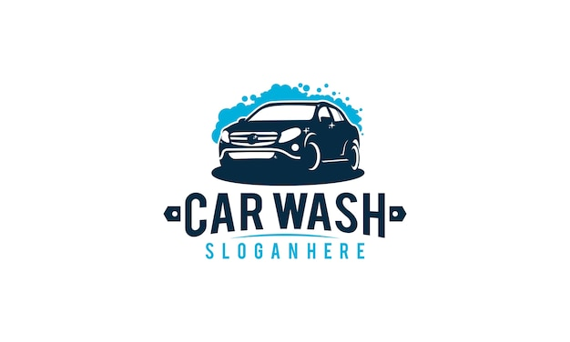 Car wash logo vintage sticker