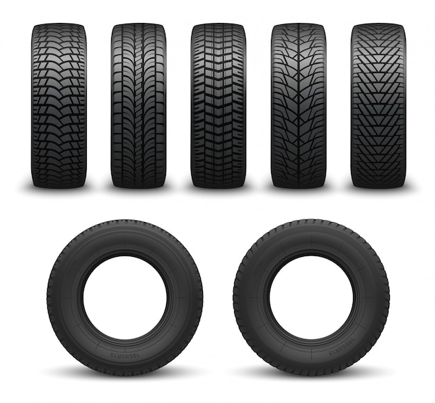 Car wheel tires or tyres 3d  . spare parts