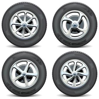Автомобильные колеса вид сбоку
