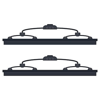Car windshield wipers vector illustration isolated on a white background.