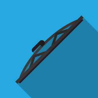 Car wiper flat icon illustration isolated vector sign symbol
