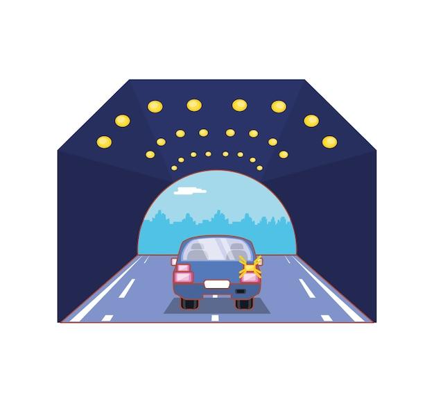 Автомобиль с дизайном векторных иллюстраций поворота