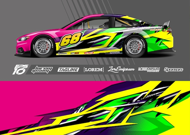Car wrap decal . abstract stripe racing