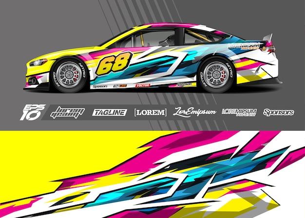 Наклейка на автомобильную пленку. абстрактные полосы гонки