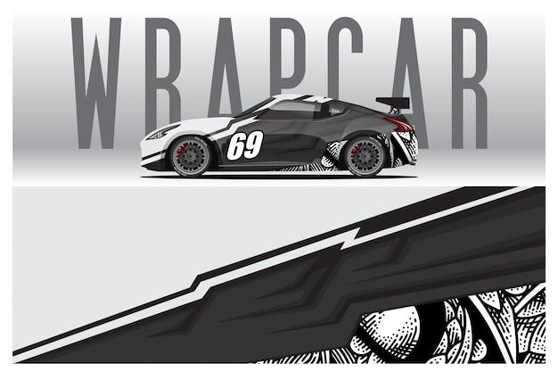 Дизайн наклеек для автомобилей. абстрактный гоночный и спортивный фон для гоночной ливреи или ежедневного использования автомобильной виниловой наклейки. наклейка вектор eps готовая печать.