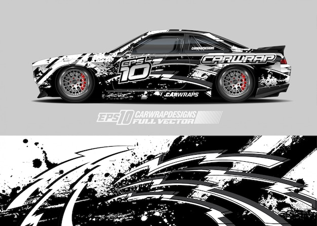 Car wrap decal designs