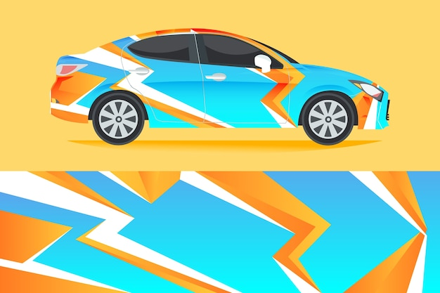 Car wrap design illustration
