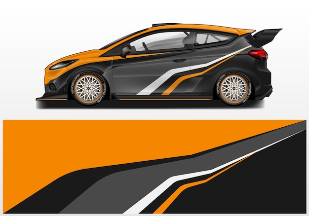 Car wrap design   template and ready print