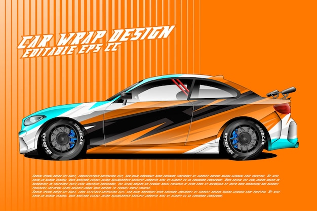 Дизайн автомобильной упаковки с абстрактной текстурой в гоночном стиле