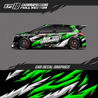 Car wrap designs for race car