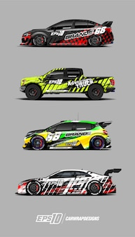 Car wrap designs set