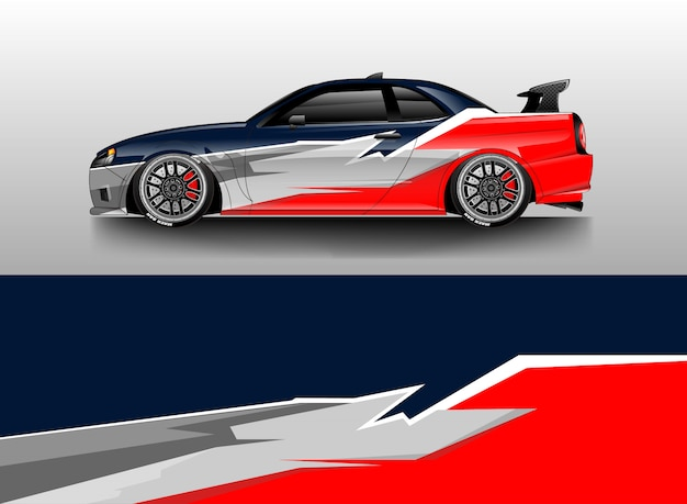 Car wrap designs vector