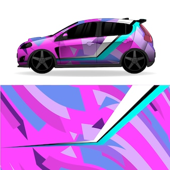 Car wrap geometric design