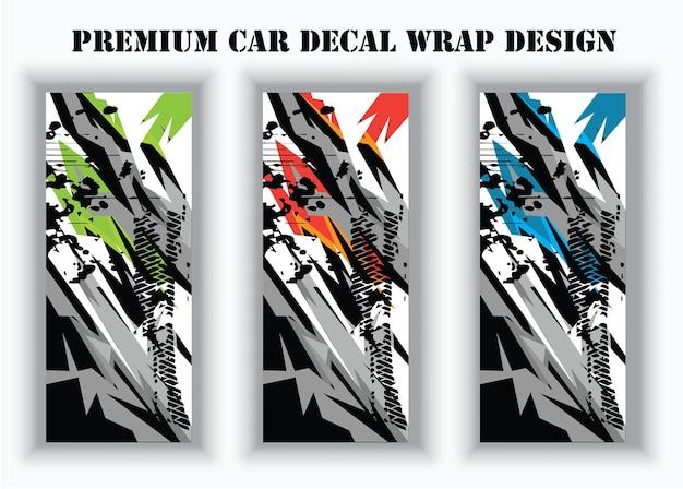 랩 및 비닐 스티커에 대한 자동차 랩 그래픽 레이싱 추상적인 배경