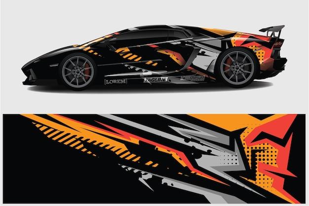 Автомобильная пленка графический гоночный абстрактный фон для упаковки и виниловой наклейки