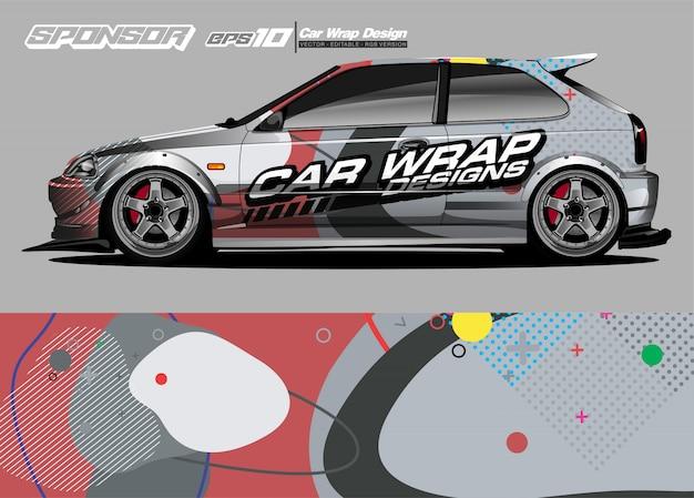 자동차 랩 그래픽 경주 추상 스트립 및 자동차 랩 및 비닐 스티커에 대 한 배경