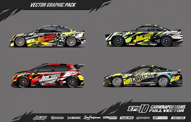 Car wrap vector pack