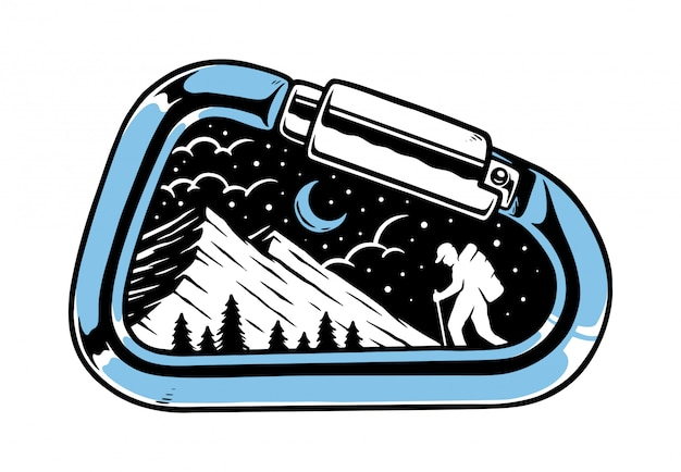 Carabiner and adventurer