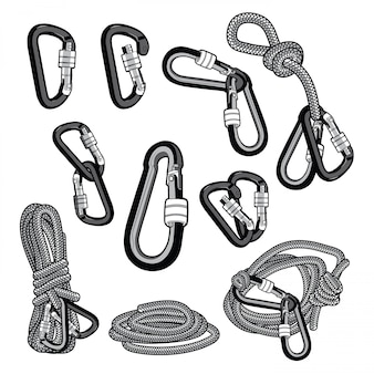 Carabiner mountain gear carabiner set