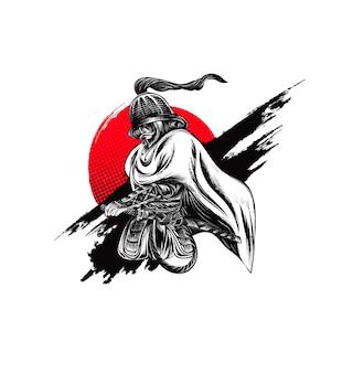 キャラクター侍イラスト