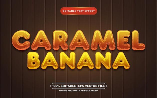 キャラメルバナナ編集可能なテキスト効果3d液体テンプレートスタイル