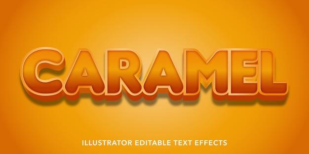Caramel editable text effects