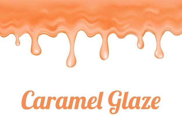 A caramel glaze