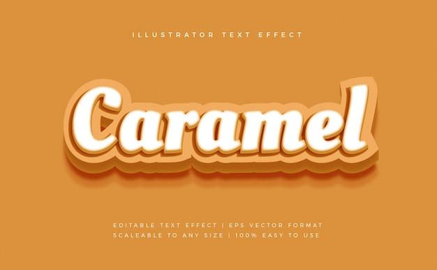 Caramel soft text style font effect