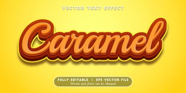 Caramel text effect, editable text style