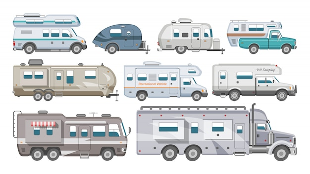 Caravan  rv camping trailer and caravanning vehicle for tr