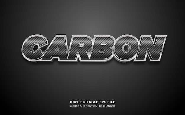 Carbon 3d editable text style effect