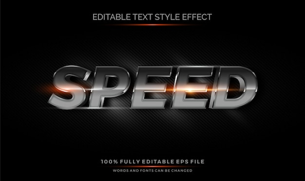 Carbon chrome 3d editable text style effect.