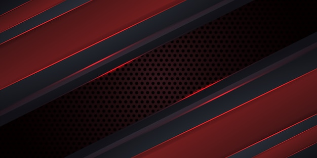 Carbon dark red background with luminous lines.
