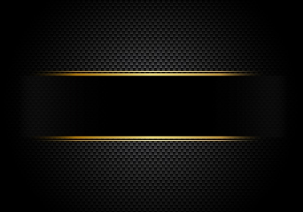 Carbon fiber background lighting with black label