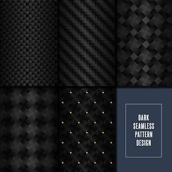 Carbon fibre style pattern swatches