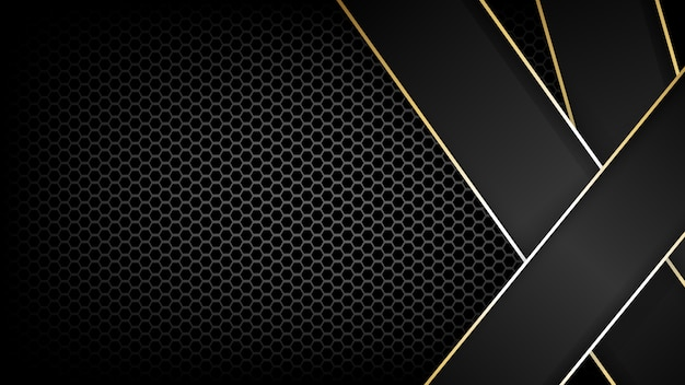Carbon fibre texture and gold line background