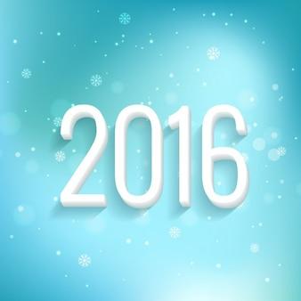 Scheda del 2016 con turchese sfondo bokeh