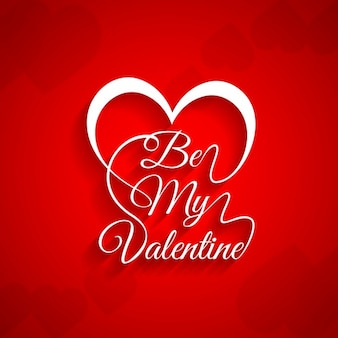 Card of be my valentine