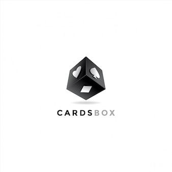 카드 상자 로고 디자인 일러스트 레이션