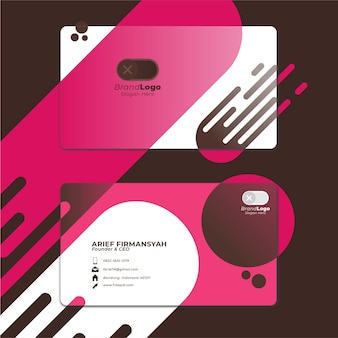 Card business template with geometric shape 2