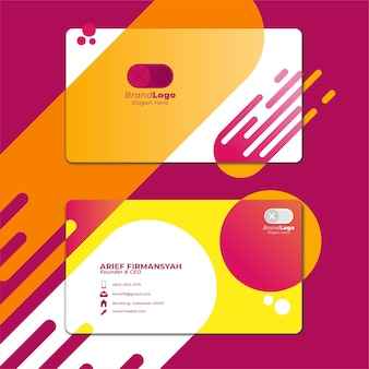Card business template with geometric shape 3