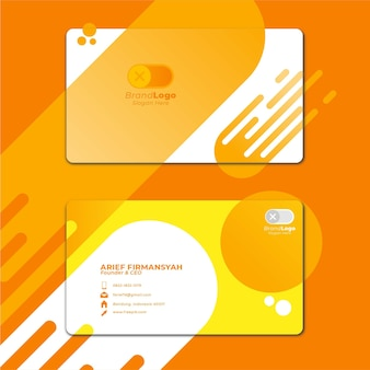 Card business template with geometric shape 4